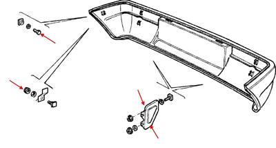 Как снять передний и задний бампер Fiat Panda 1 (1980-2003)