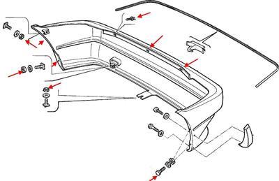 Как снять передний и задний бампер Fiat Uno