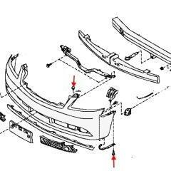 Как снять передний и задний бампер Infiniti M45/35 (Y50