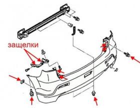 Как снять передний и задний бампер Mitsubishi ASX