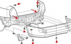 Как снять передний и задний бампер Mitsubishi Carisma