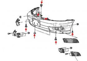 Как снять передний и задний бампер Mitsubishi Galant 8