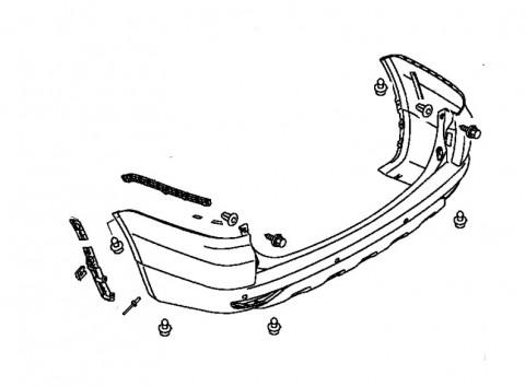 Как снять передний и задний бампер Mitsubishi Pajero
