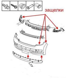 Как снять передний и задний бампер Peugeot 207