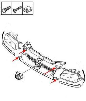 Как снять передний и задний бампер Peugeot Partner