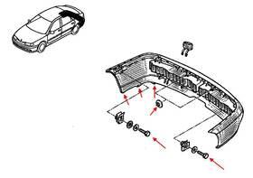 Как снять передний и задний бампер Renault Laguna 1