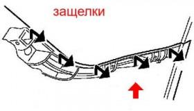 Как снять передний и задний бампер Subaru B9 Tribeca (2008