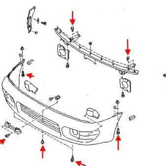 How to remove front and rear bumper Subaru Impreza (1992-2002)