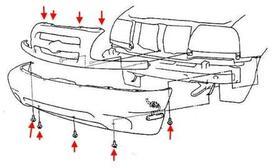 Как снять передний и задний бампер Suzuki Grand Vitara 2