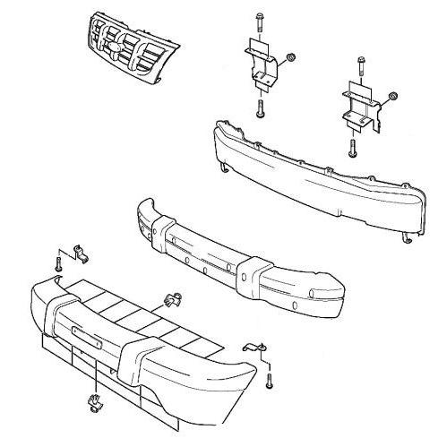 Как снять передний и задний бампер KIA Sportage JA (1993-2004)