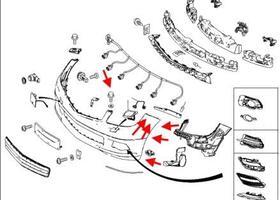 Как снять передний и задний бампер Mercedes C-Class W204