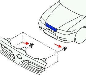 Как снять передний и задний бампер Nissan Almera N15 (1995