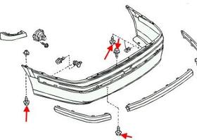 Как снять передний и задний бампер Nissan Almera N16, B10