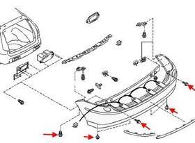 Как снять передний и задний бампер Nissan Almera Tino