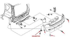 Как снять передний и задний бампер Nissan Note E11 (2005-2013)