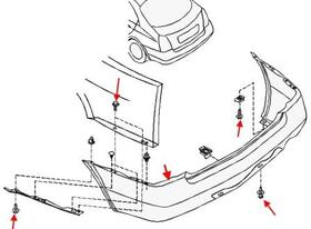 Как снять передний и задний бампер Nissan Primera P12