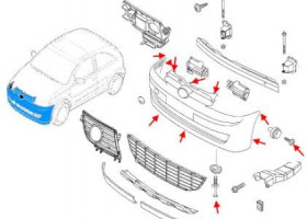 Как снять передний и задний бампер Opel CORSA C (2000-2007)