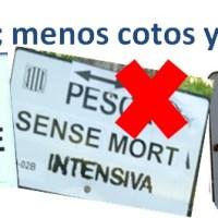Cotos eliminados y nuevas zonas libres de pesca sin muerte (Cataluña 2014)