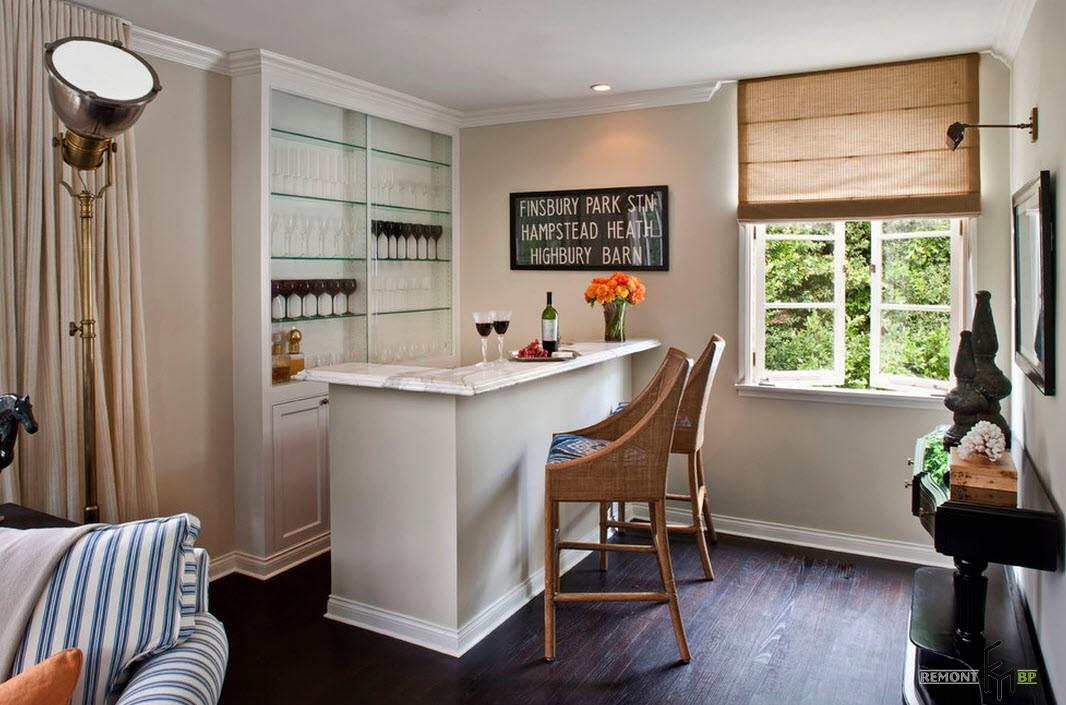 Барная стойка в квартире: 50 фото примеров дизайна комнат