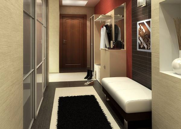 дизайн узкой прихожей в квартире фото реальные 6