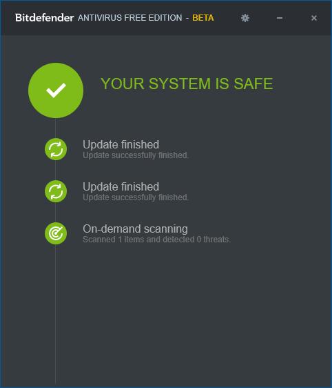 Бесплатный антивирус Bitdefender для Windows 10