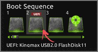 Изменение порядка загрузки в UEFI