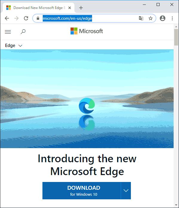 Скачать Microsoft Edge Chromium