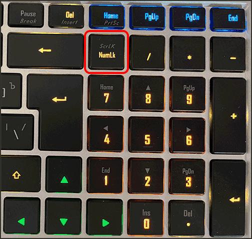 Клавиша Num Lock на ноутбуке