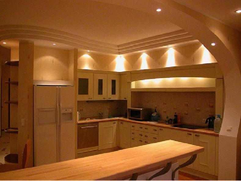 дизайн потолков кухни 3