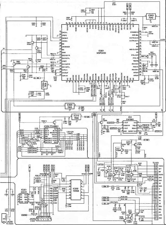 Принципиальная электрическая схема тв тюнер samsung 9500