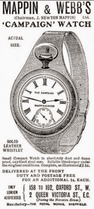 Реклама на Campain часовник на Mappin&Webb