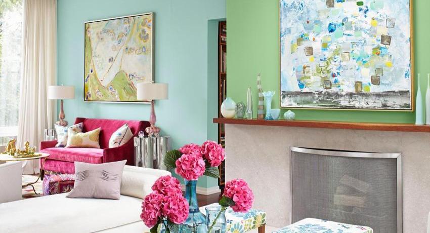 красим стены в квартире в два цвета дизайн фото 5