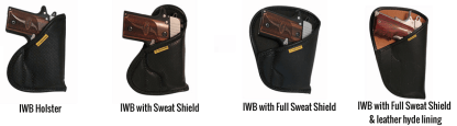 inside the waistband holster sweat shield options for concealed carry.