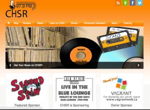 Radio Station CHSR 97.9fm site built by Moran Media
