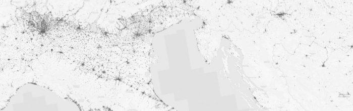 Global Urban Footprint (GUF) by DLR (Thomas Esch) for Italy to Croatia.