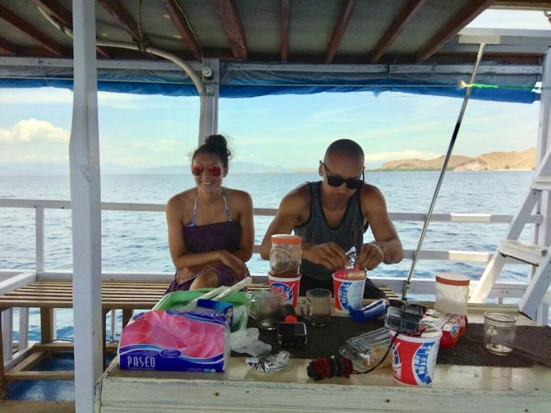 Pop mie indonesia snack food liveaboard komodo