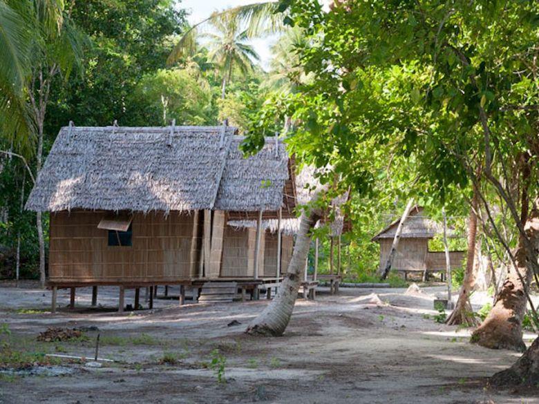 beach bungalow at Tau Yado homestay in Raja Ampat