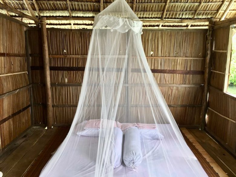 Raja Ampat homestay bungalow bedroom mattress sleeping area Marko