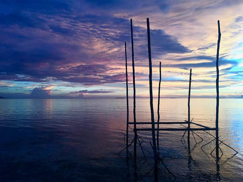 Raja Ampat amazing sunset Beser Bay