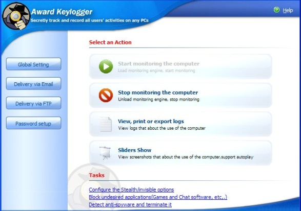 award keylogger screenshot