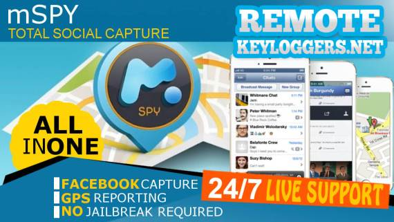 mSpy Remote Installation Keylogger for iPhone