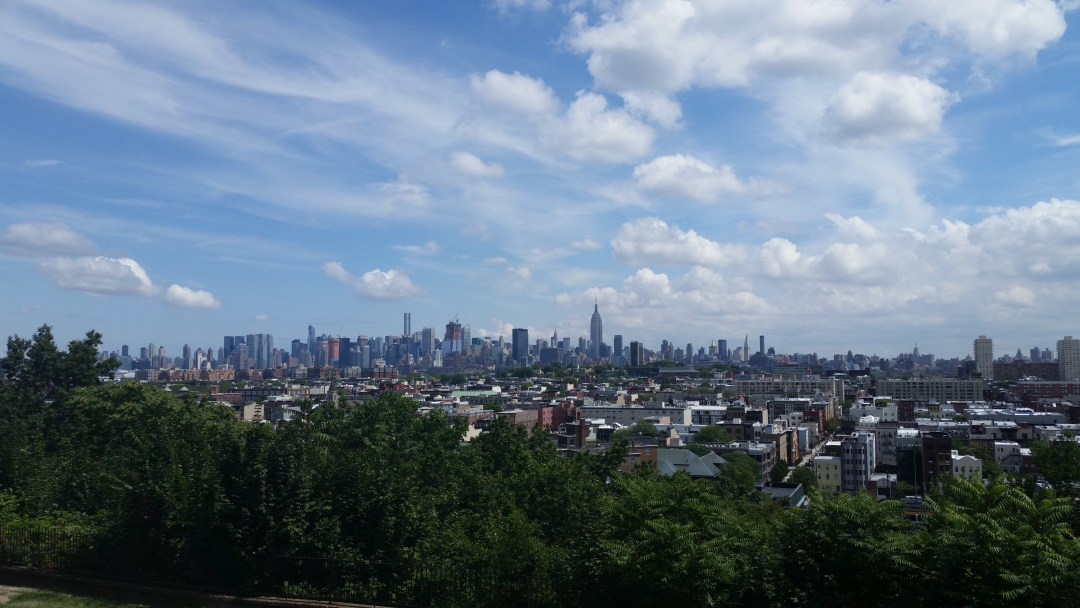 new york city skyline as seen from jersey city heights