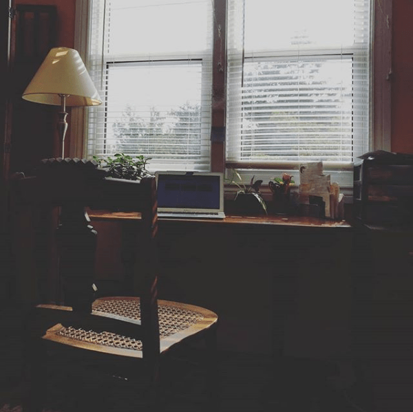 home office at a house i stayed in