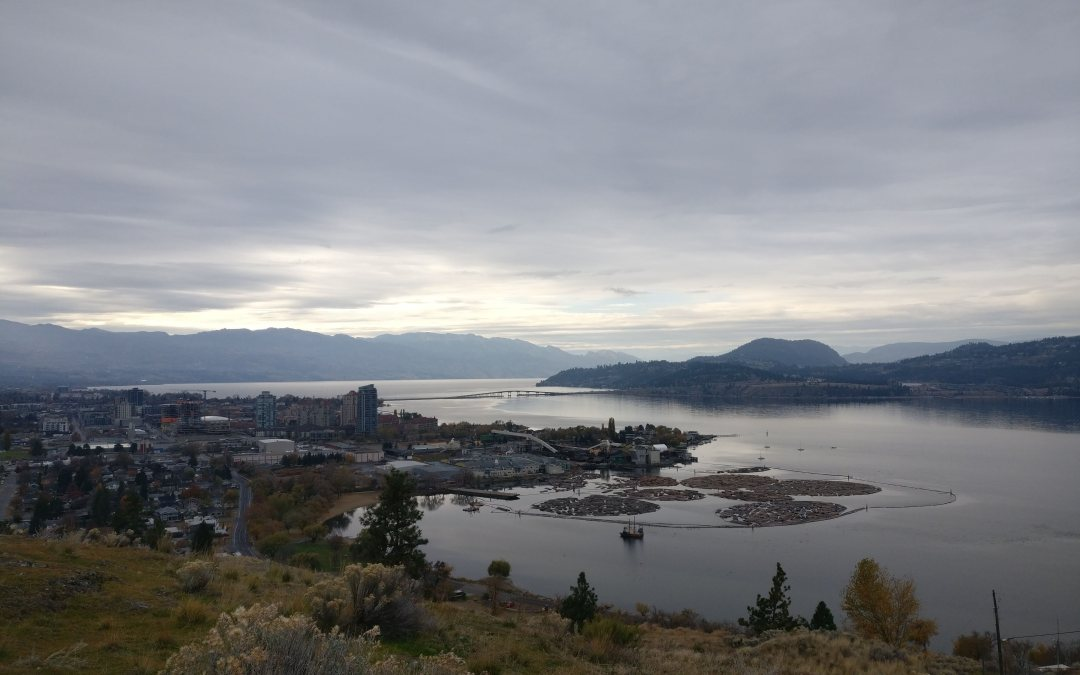 view of downtown kelowna from knox mountain