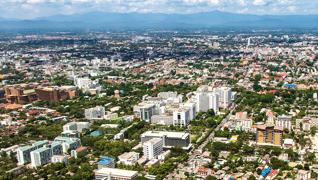 The city of Chiang Mai.