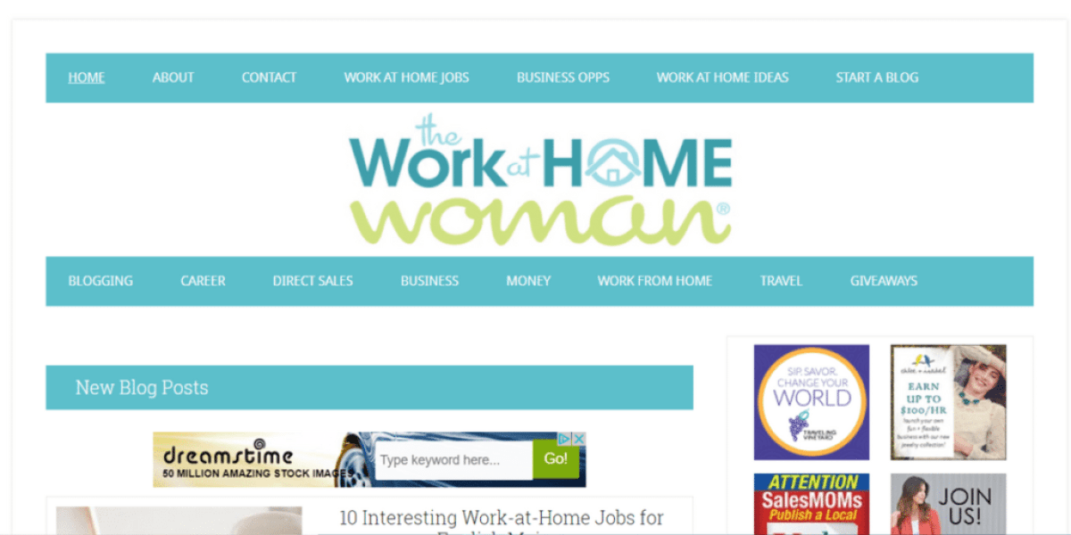 the work-at-home woman