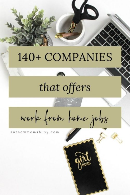 140+ Companies That Offers Work From Home Jobs - updated list of #workfromhomejobs #workfromhome #remotejobs #remotework