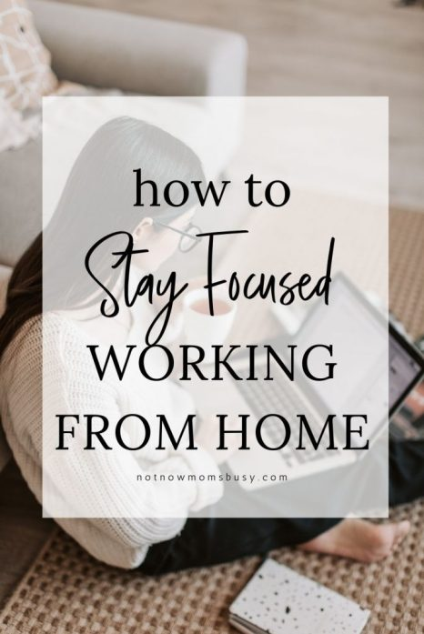 Here are some helpful tips that will help keep you focused when you are working from home for a remote job or online business. #workfromhome #workathome #homebasedbusiness #onlinebusiness