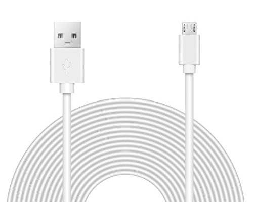 25ft Power Extension Cable For WyzeCam, Yi Camera, Oculus