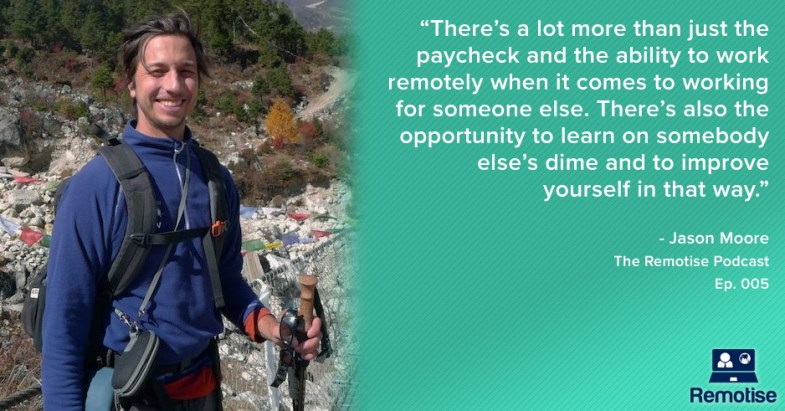 jason moore from location indie on the remotise podcast